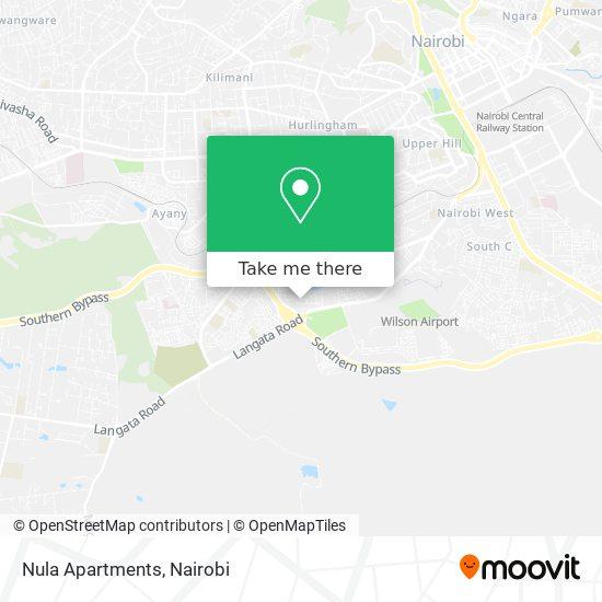 Nula Apartments map