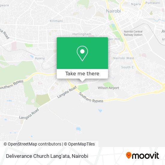 Deliverance Church Lang'ata map