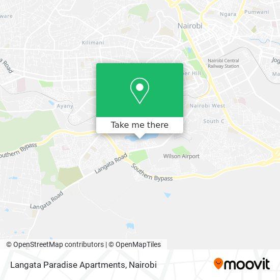 Langata Paradise Apartments map