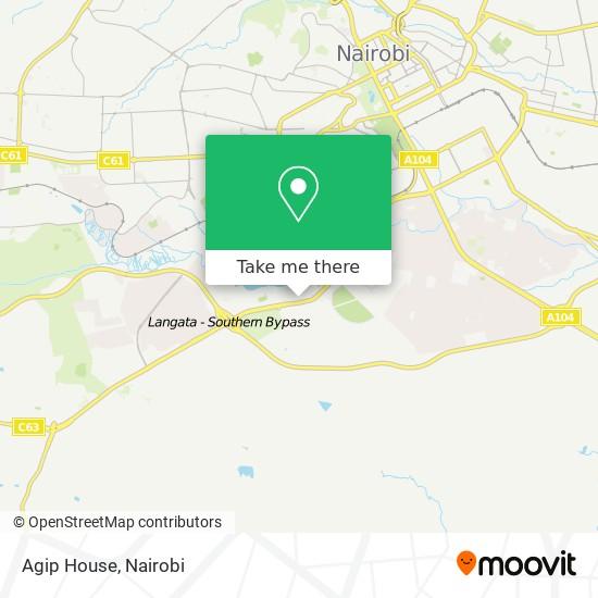 Agip House map