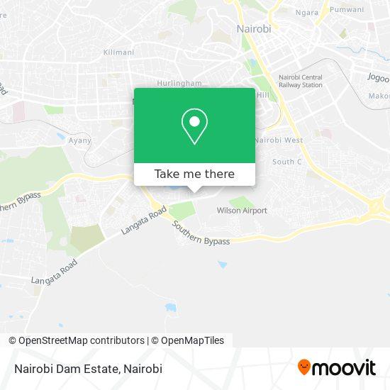 Nairobi Dam Estate map