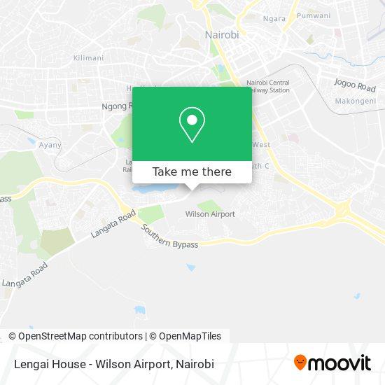 Lengai House - Wilson Airport map