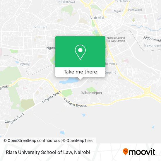 Riara University School of Law map