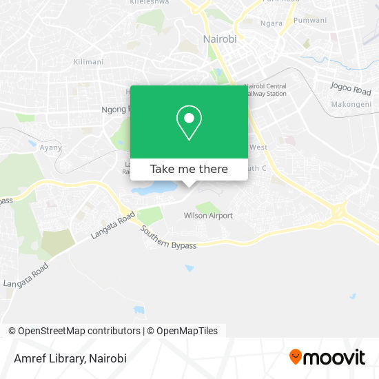 Amref Library map
