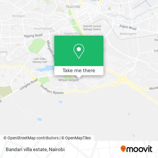 Bandari villa estate map