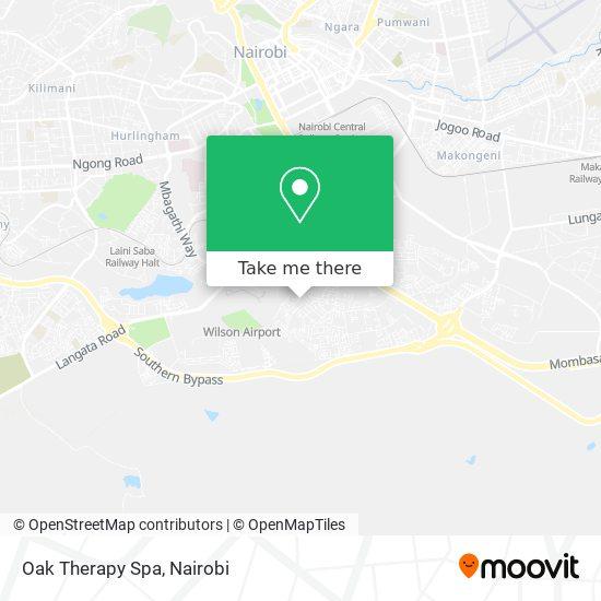 Oak Therapy Spa map