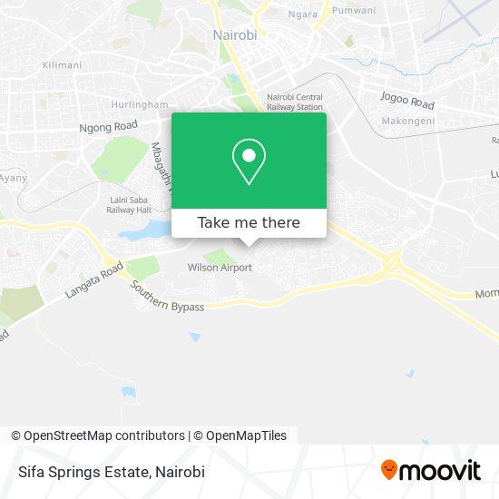 Sifa Springs Estate map