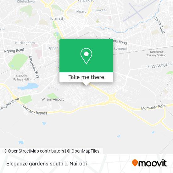 Eleganze gardens south c map