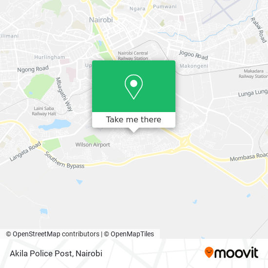 Akila Police Post map