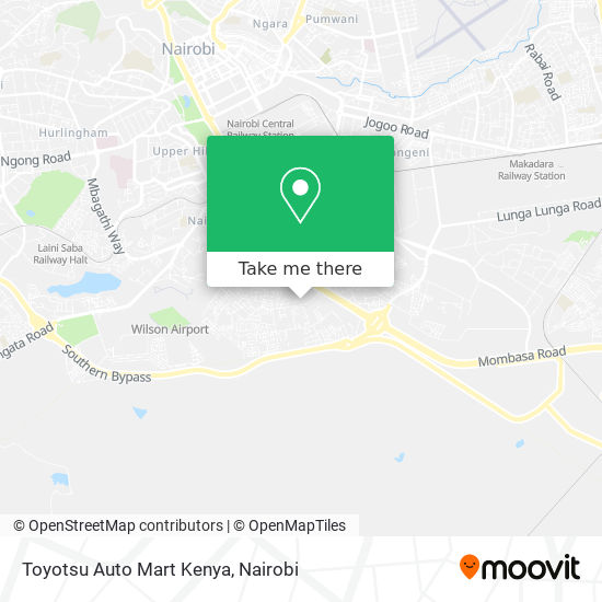 Toyotsu Auto Mart Kenya map