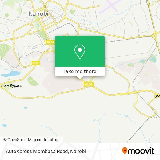 AutoXpress Mombasa Road map