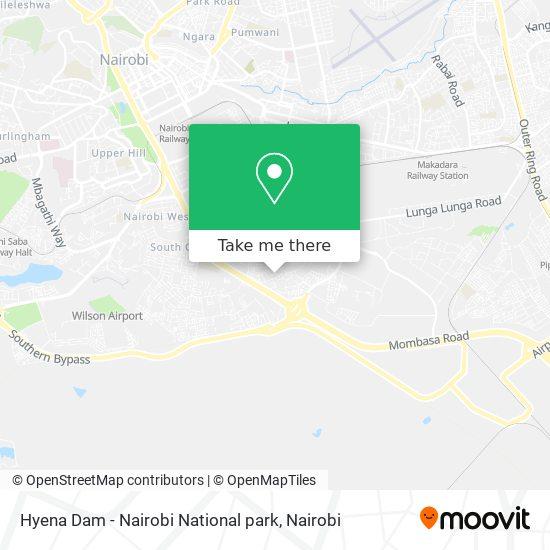 Hyena Dam - Nairobi National park map