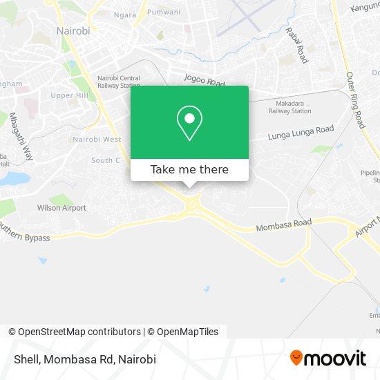 Shell, Mombasa Rd map