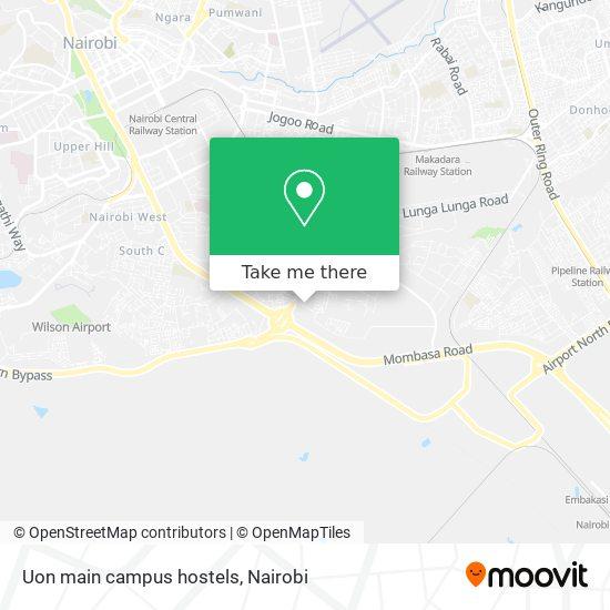 Uon main campus hostels map