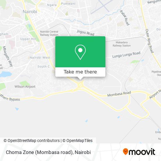 Choma Zone (Mombasa road) map
