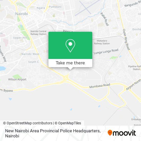 New Nairobi Area Provincial Police Headquarters map