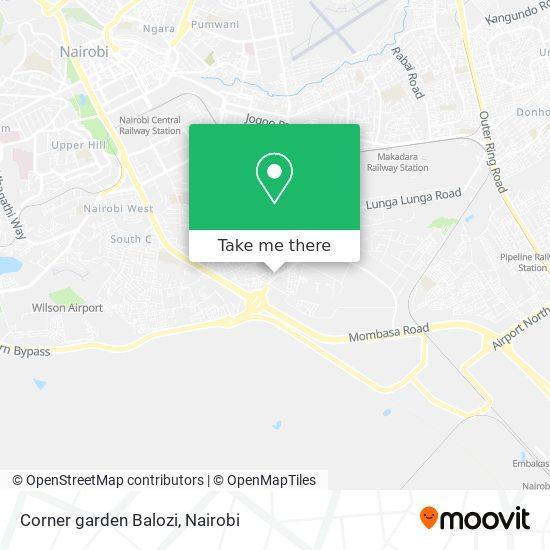 Corner garden Balozi map