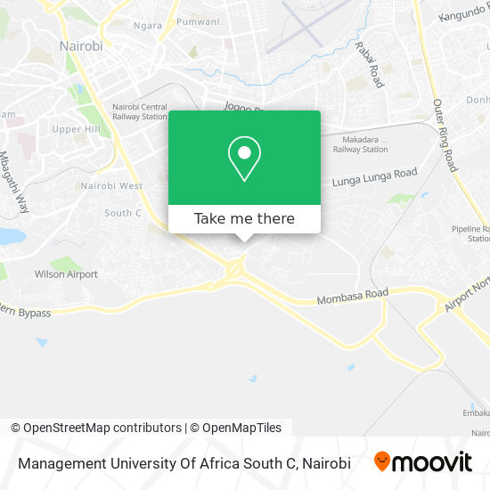 Management University Of Africa South C map
