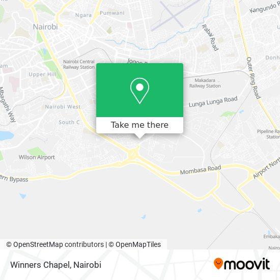 Winners Chapel map