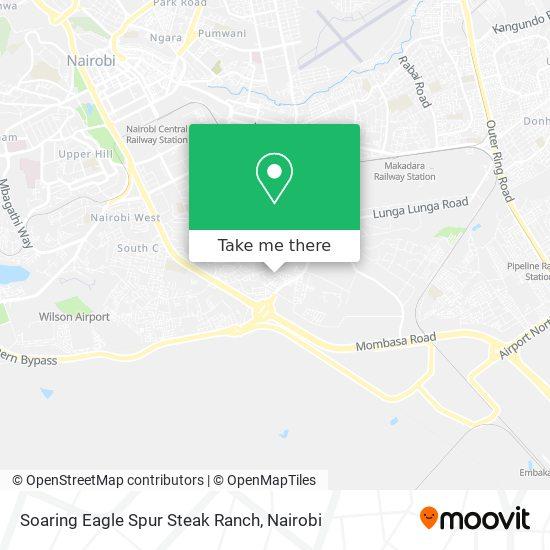 Soaring Eagle Spur Steak Ranch map