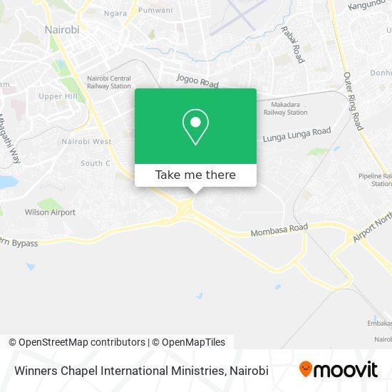 Winners Chapel International Ministries map