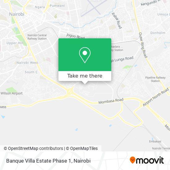 Banque Villa Estate Phase 1 map