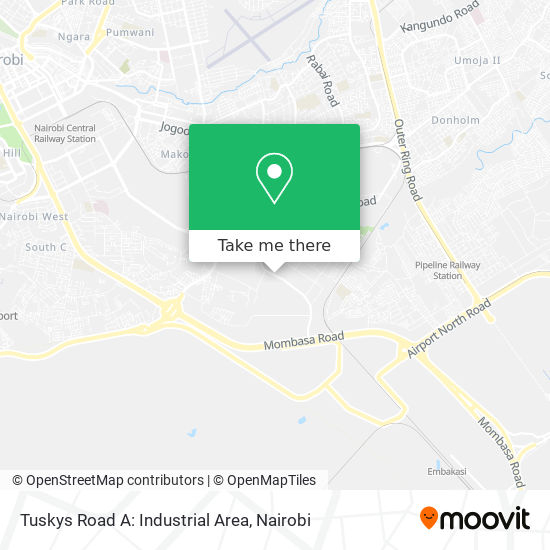 Tuskys Road A: Industrial Area map
