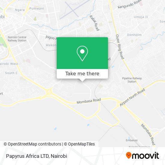 Papyrus Africa LTD map