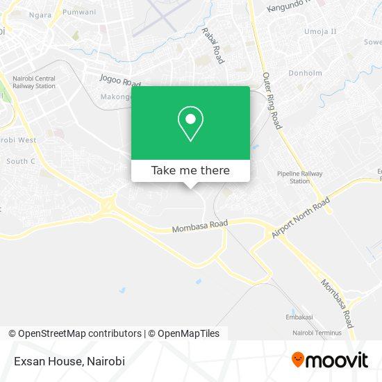 Exsan House map