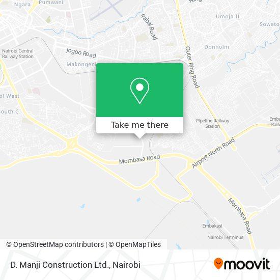 D. Manji Construction Ltd. map