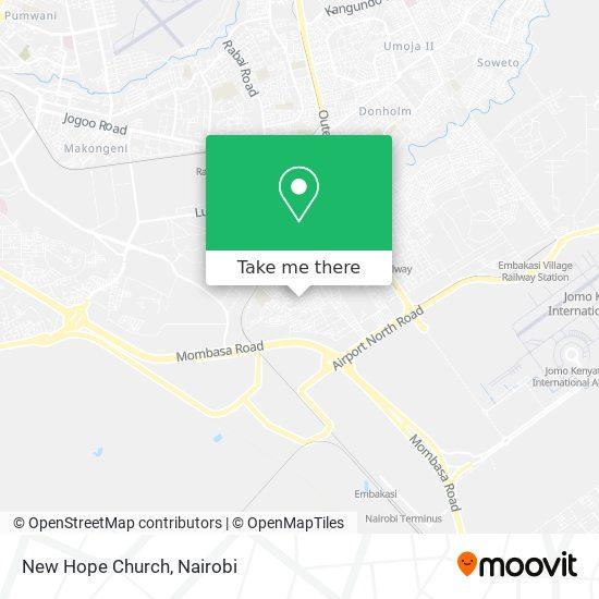 New Hope Church map