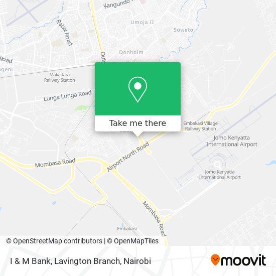 I & M Bank, Lavington Branch map