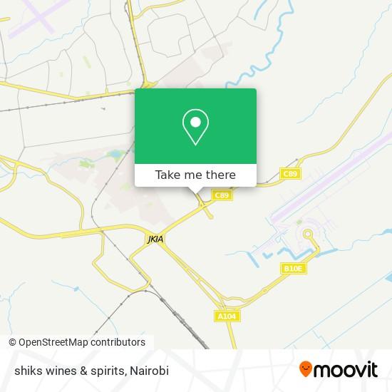 shiks wines & spirits map