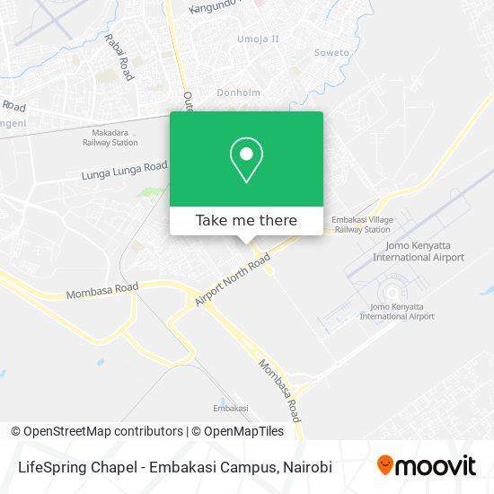 LifeSpring Chapel - Embakasi Campus map