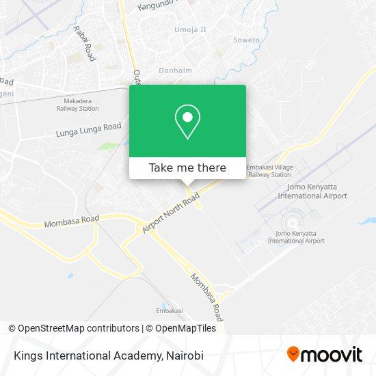 Kings International Academy map