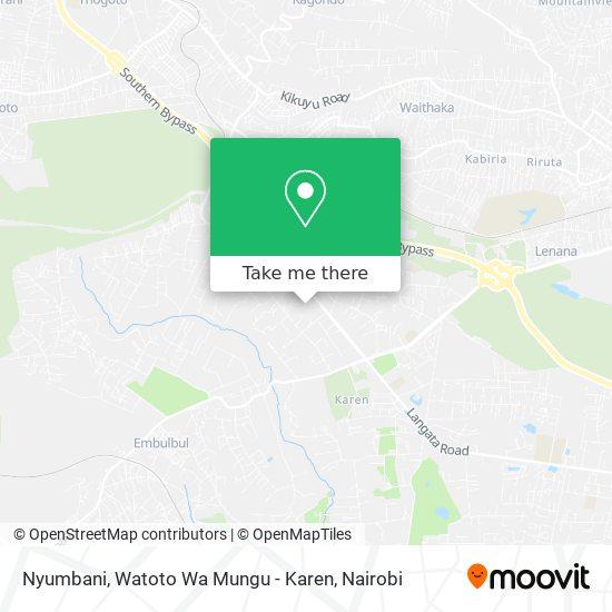 Nyumbani, Watoto Wa Mungu - Karen map