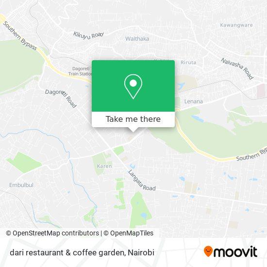 dari restaurant & coffee garden map