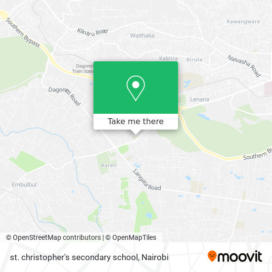 st. christopher's secondary school map