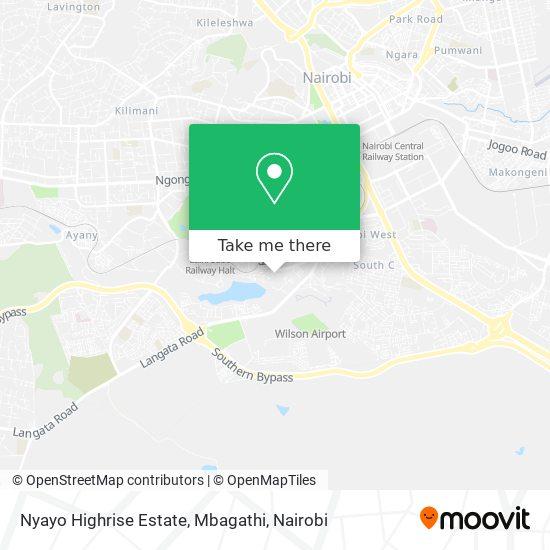 Nyayo Highrise Estate, Mbagathi map