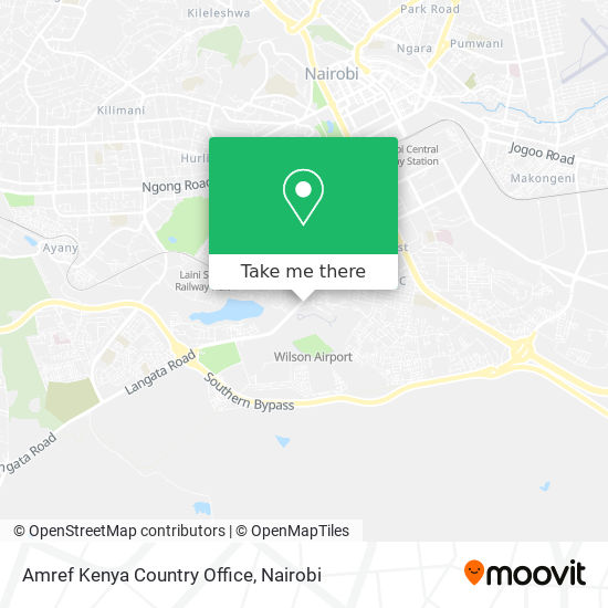 Amref Kenya Country Office map
