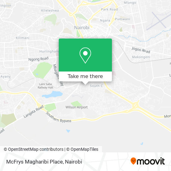 McFrys Magharibi Place map