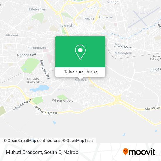 Muhuti Crescent, South C map