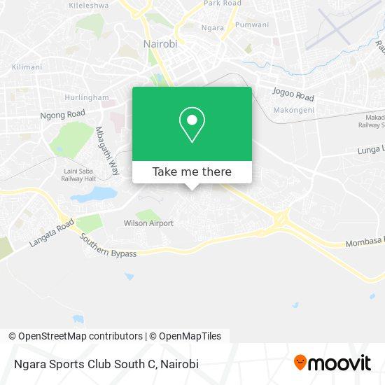 Ngara Sports Club South C map