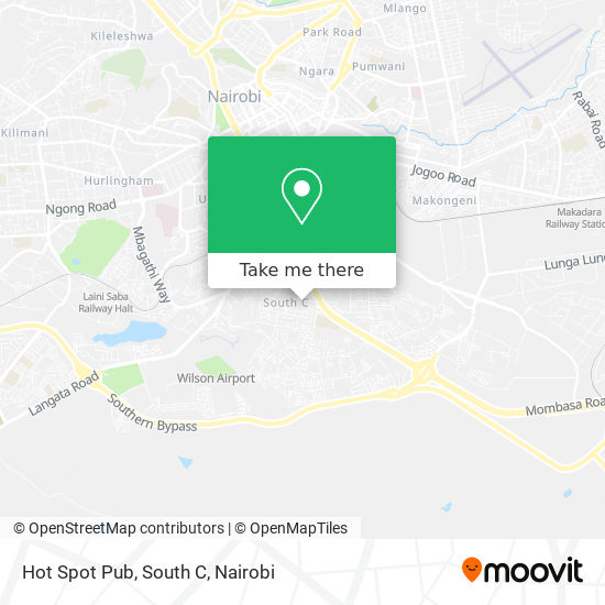 Hot Spot Pub, South C map
