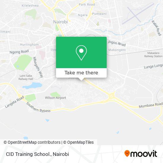 CID Training School. map