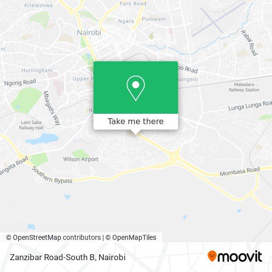 Zanzibar Road-South B map