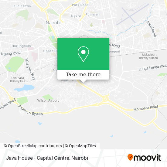 Java House - Capital Centre map