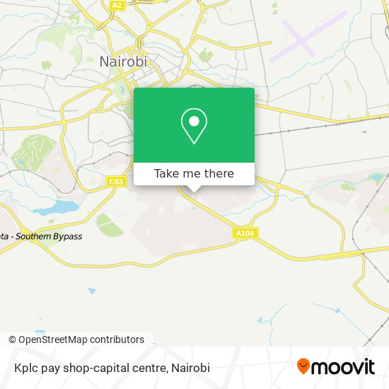Kplc pay shop-capital centre map