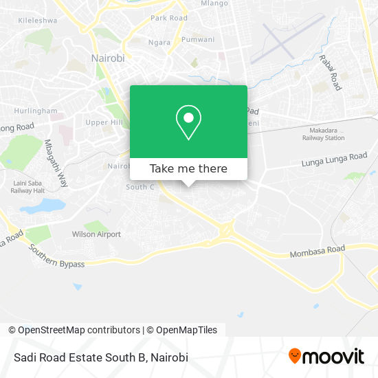 Sadi Road Estate South B map