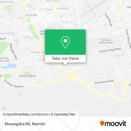 Mwangeka Rd map